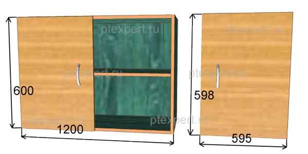 размеры фасадов мебели